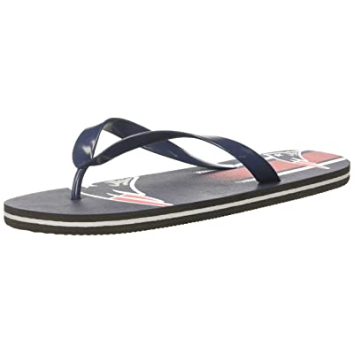 Amazon.com : New England Patriots Unisex Gradient Big Logo Flip Flop Medium : Clothing