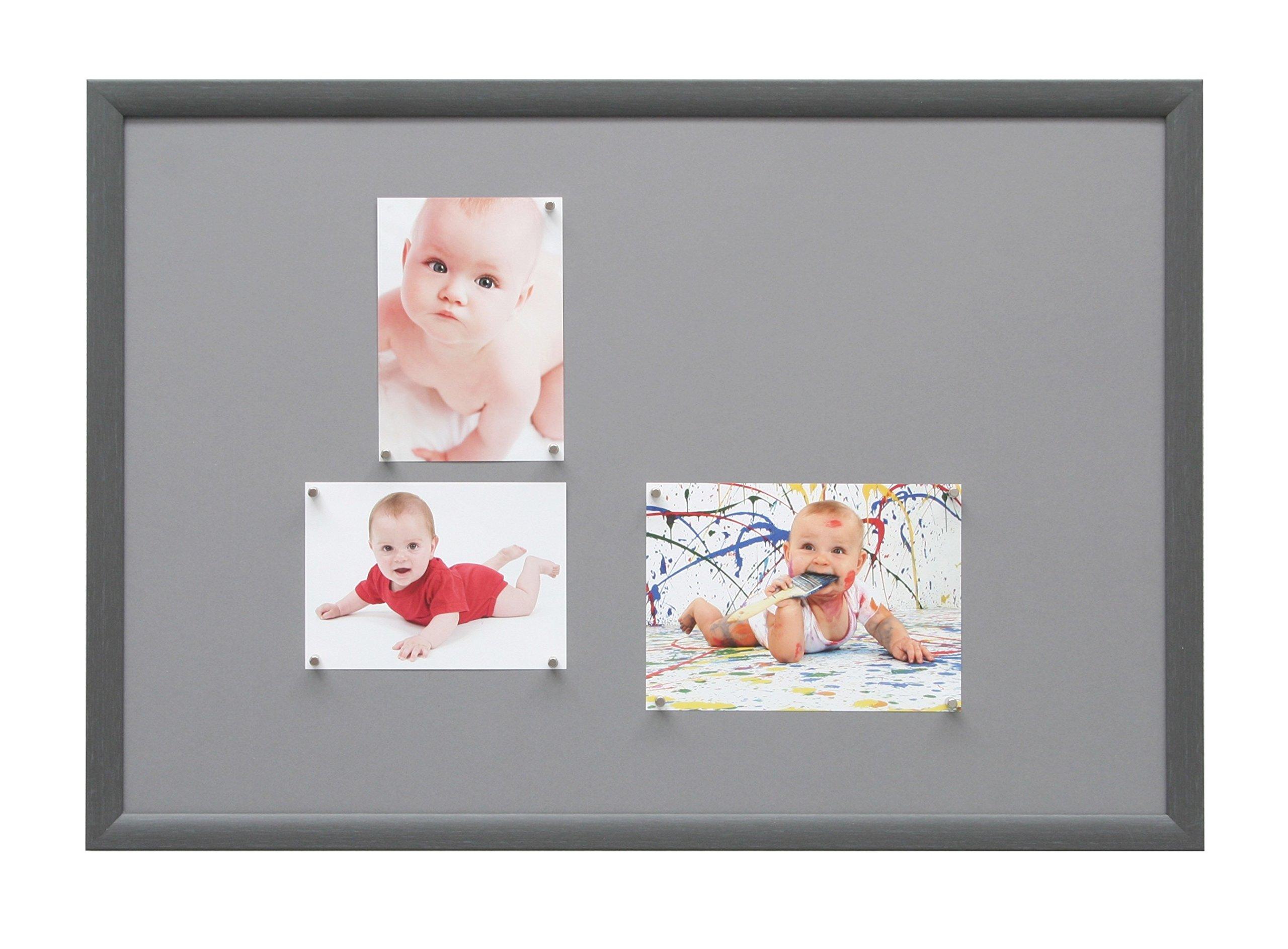 Deknudt Frames S54ST8-40.0X60.0 Magnetic Wooden Board S54SF7 Painted Grey 64.4 x 44.4 x 1.5 cm