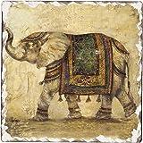 Counter Art Tumbled Tile Coasters, Elegant Elephant, Set of 4