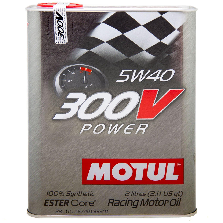 Motul 104242 300V 5w40 Racing Oil, 2 liters