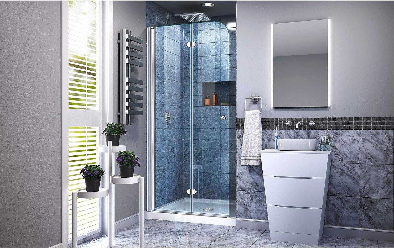 DreamLine - Mampara de puerta de ducha Aqua Fold (85 cm de ancho x ...