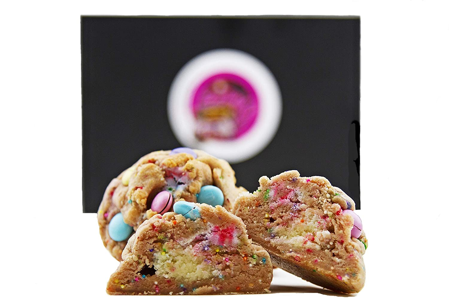 Baby g's Cookies Birthday Cake Easter Cookie Gift Basket Gourmet Desserts for Delivery-Fresh Baked Food Gift Box 2 Lb. Individually Wrapped Stuffed, M & M's Celebration Corporate Families'