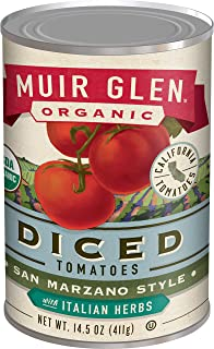 product image for Muir Glen, Organic San Marzano Style Diced Tomatoes With Italian Herbs, 14.5 oz