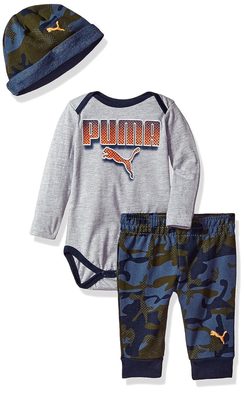 PUMA Baby-Boys Boys' Three Piece Jogger, T-Shirt and Hat Set