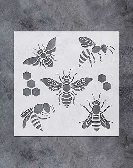 Bee Honeycomb Stencil Mask Reusable PP Sheet for Arts /& Crafts