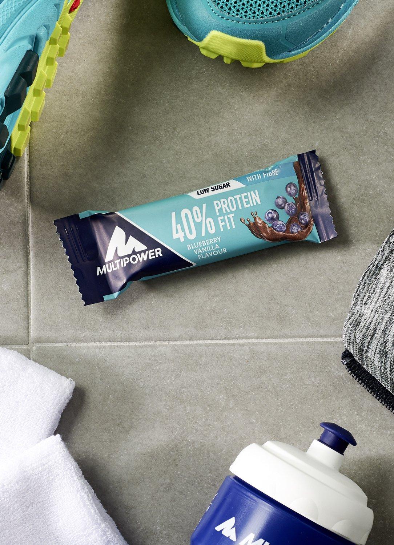 40% Protein Fit Bar (barritas proteicas) - 24 x 35 gr. - Arandanos - yogurt: Amazon.es: Salud y cuidado personal