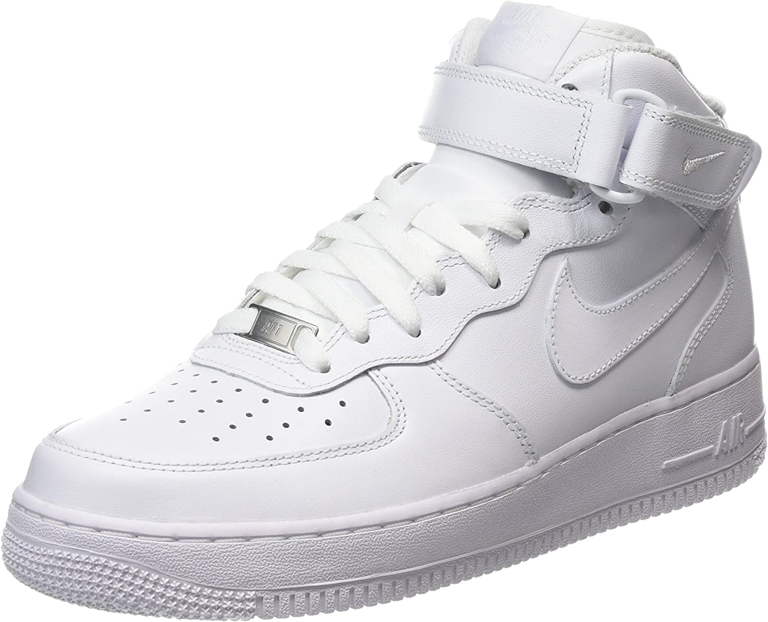 Murmullo Viajero Conceder  Amazon.com | Nike Women's Air Force 1 MID '07 Leather White 366731-100 (5  B(M) US) | Basketball