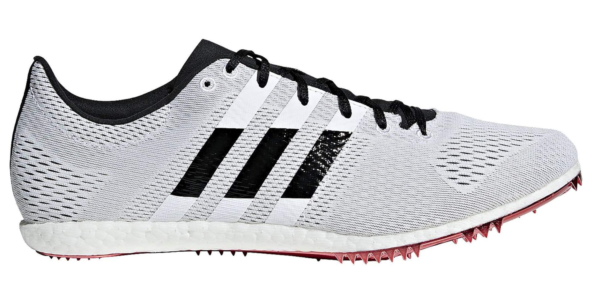 adidas Adizero Avanti Spike Shoe - Unisex Track & Field White/Core Black/Shock Red by adidas