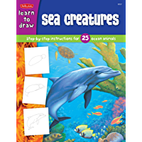 Sea Creatures:Step-by-step instructions for 25 ocean animals (Learn to Draw) (English Edition)