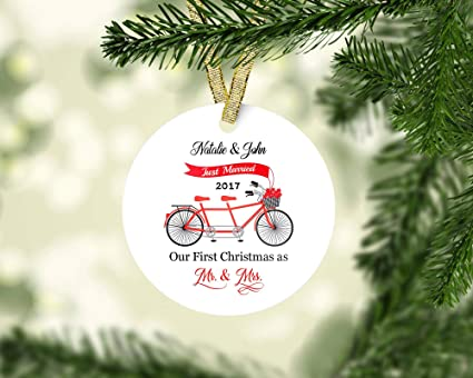 couple ornament our first christmas ornament mr mrs ornaments personalized christmas ornament
