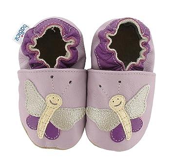 Krabbelschuhe Schmetterling Violetta In 3 Farben Von Babice Grosse