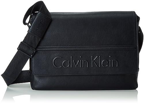 Günstig Calvin Klein Jeans Kunstleder Schwarz Messenger