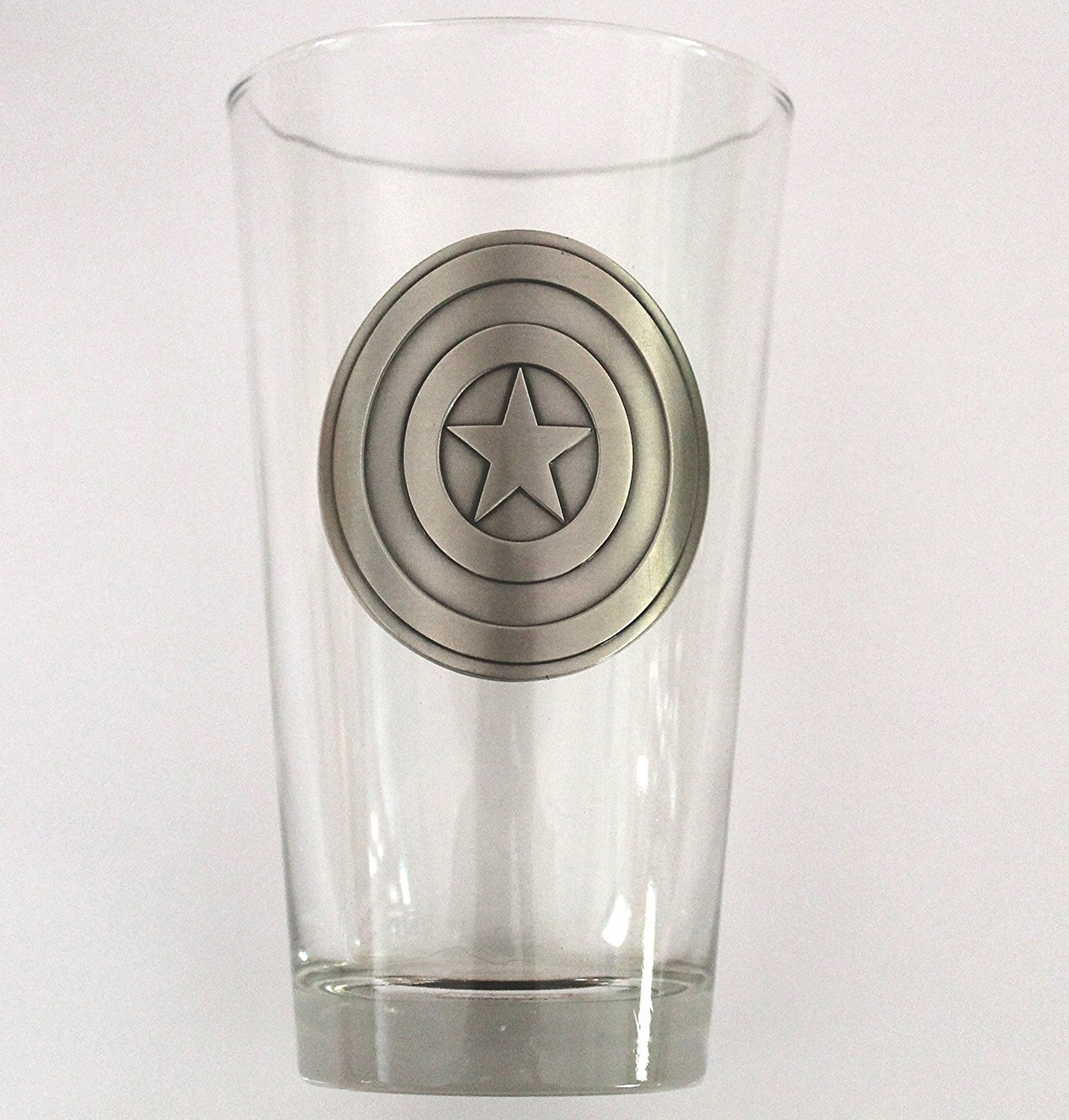 Captain America Shield Medallion Pint Glass by Marvel (Image #1)
