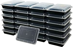 Food Storage and Meal Prep Containers 1 Compartment 28 oz Bento Box 25 Pack BPA Free Microwave and Dishwasher Safe