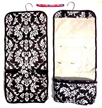 Best Selling Damask Hanging Toiletries Cosmetic Makeup Best Travel Bag Case  Weird Shower Caddy Kit Set