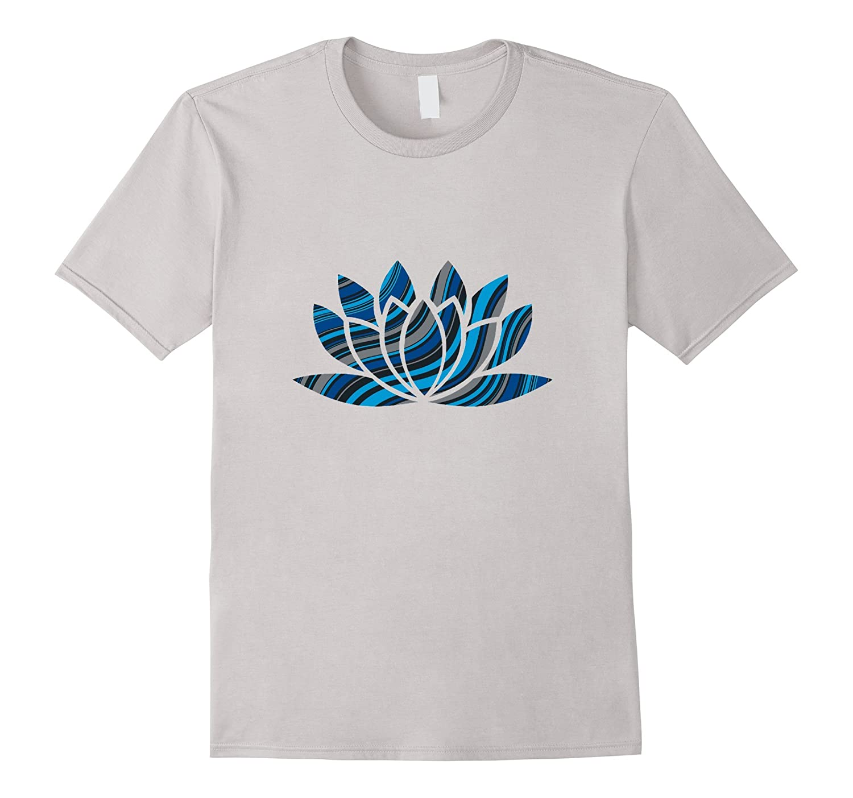 c051f74350 Funky Abstract Lotus Flower Yoga Namaste Om T-Shirt-TH - TEEHELEN