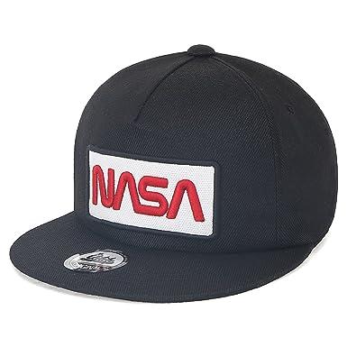 dfd732b5cbc ililily NASA Worm Logo Embroidery Baseball Cap Flat Bill Snapback Trucker  Hat