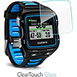 Garmin Forerunner 920XT Screen Protector, BoxWave® [ClearTouch Glass] 9H Tempered Glass Screen Protection for Garmin Forerunner 920XT