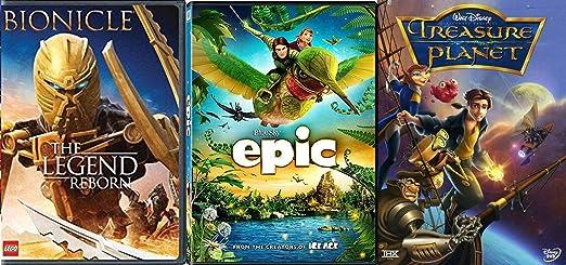 Amazon Com Buckling Adventure Fantasy Cartoon Movie Epic Treasure Planet Disney Lego Bionicle Legend Reborn Dvd Animated Kids Fun 3 Pack Movies Tv
