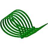 Bridas de nailon 100 mm x 2,5 mm color verde, resistentes, suministradas