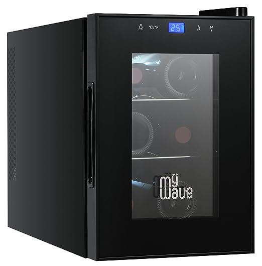 MyWave MWWT 6B- Vinoteca Para 6 Botellas Vertical, Capacidad De 20 ...