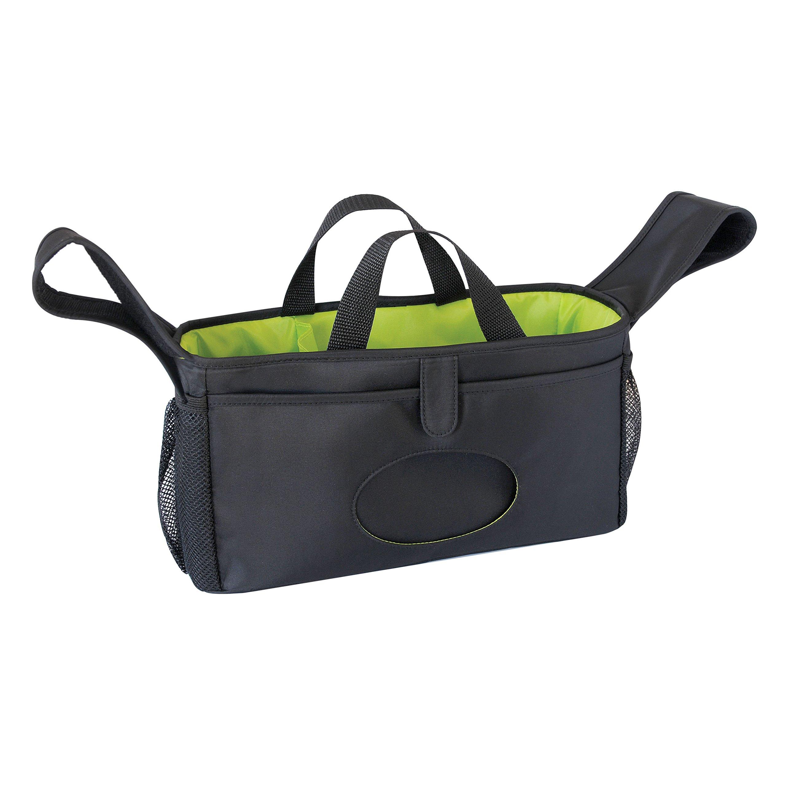 Goldbug - Adjustable and Secure Stroller Organizer - Black