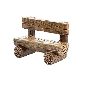 Darice Simple Resin Log-Like Fairy Garden Bench (30023582)