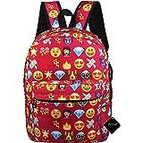 xhorizon TM FL1 Girl's Travel Backpack QQ Emoji Shoulder School Book Bag Rucksack Handbag Satchel