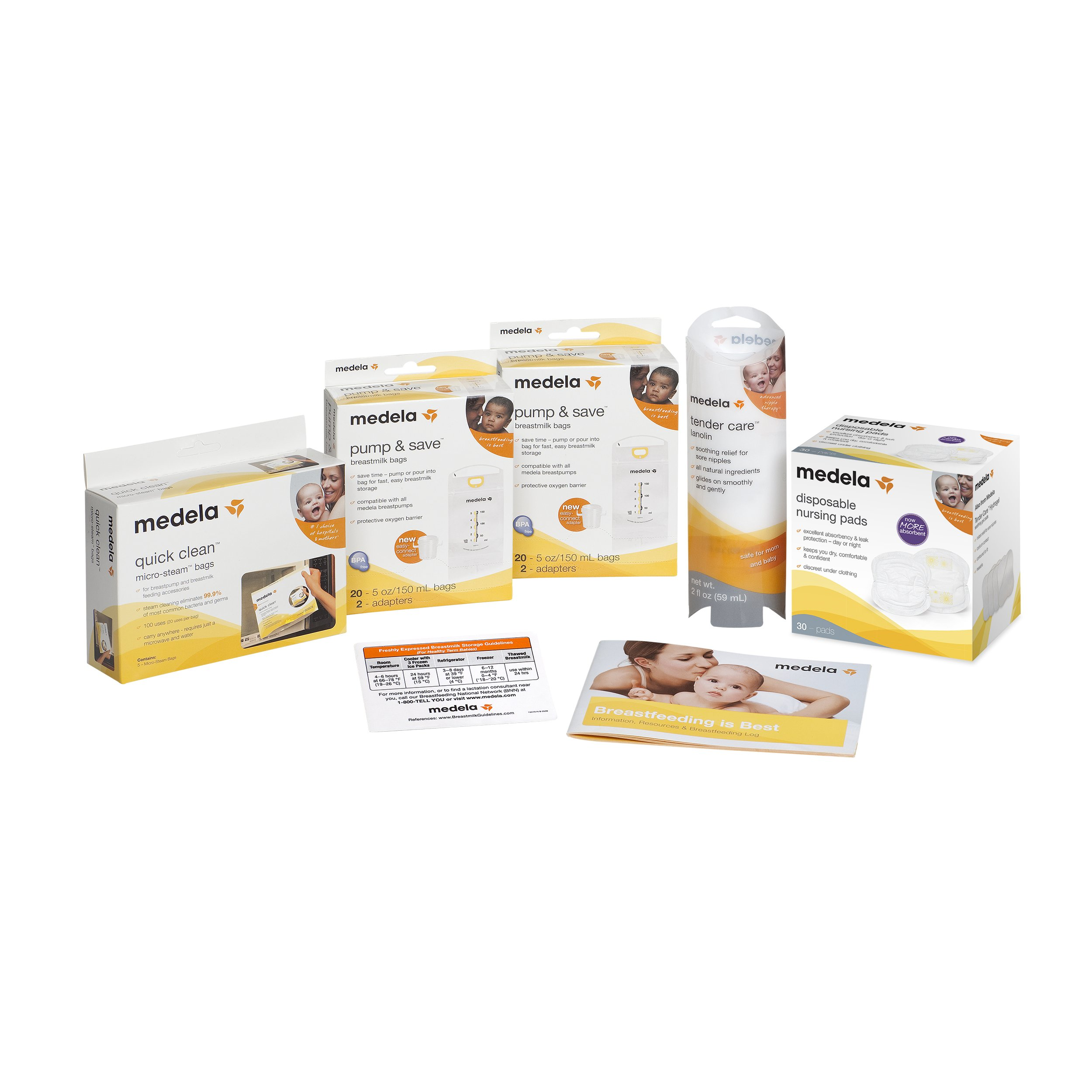 Medela Breast Pumping Accessories, Breastpump Essentials to Help Moms Begin and Continue Breastfeeding, Authentic Medela Products Include Breast Milk Storage and Cleaning, Breast Care