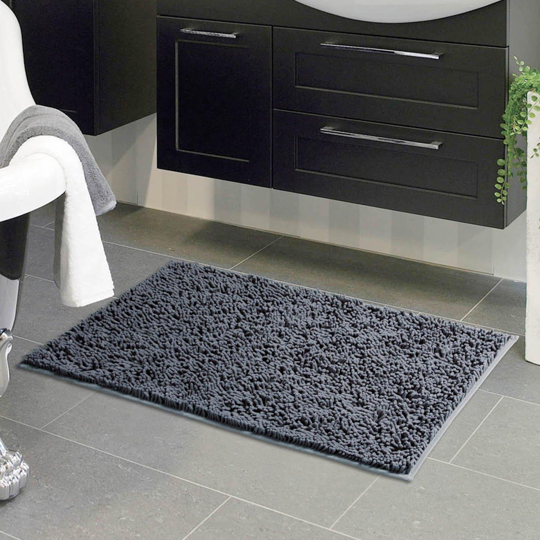 Amazon.com: VDOMUS Absorbent Microfiber Bath Mat Soft ...