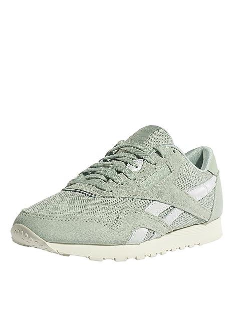Reebok Mujeres Calzado/Zapatillas de Deporte Classic Nylon Cold Paste: Amazon.es: Zapatos y complementos