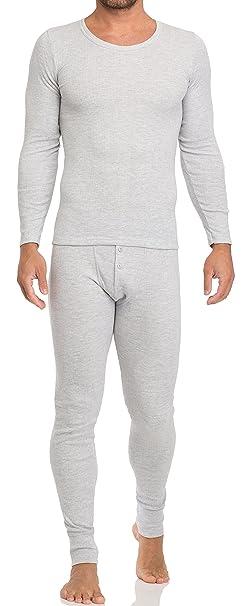 Timone Camisetas Térmicas 100% Algodón Manga Larga Ropa Interior Hombre 15373 (Mezcla, S