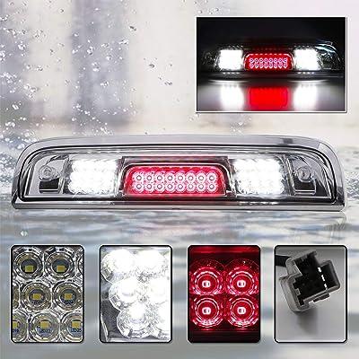 For 2014-2020 Chevy Silverado & GMC Sierra 1500 2500HD 3500HD Full LED Third Brake Cargo Light (Chrome Housing Clear Lens): Automotive