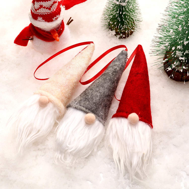 Details about  /Boao 24 Pieces Elf Gnome Santa Handmade Tomte Plush Ornaments Christmas Hangi...