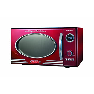 Nostalgia Electrics RMO400RED Retro Series .9 CF Microwave Oven