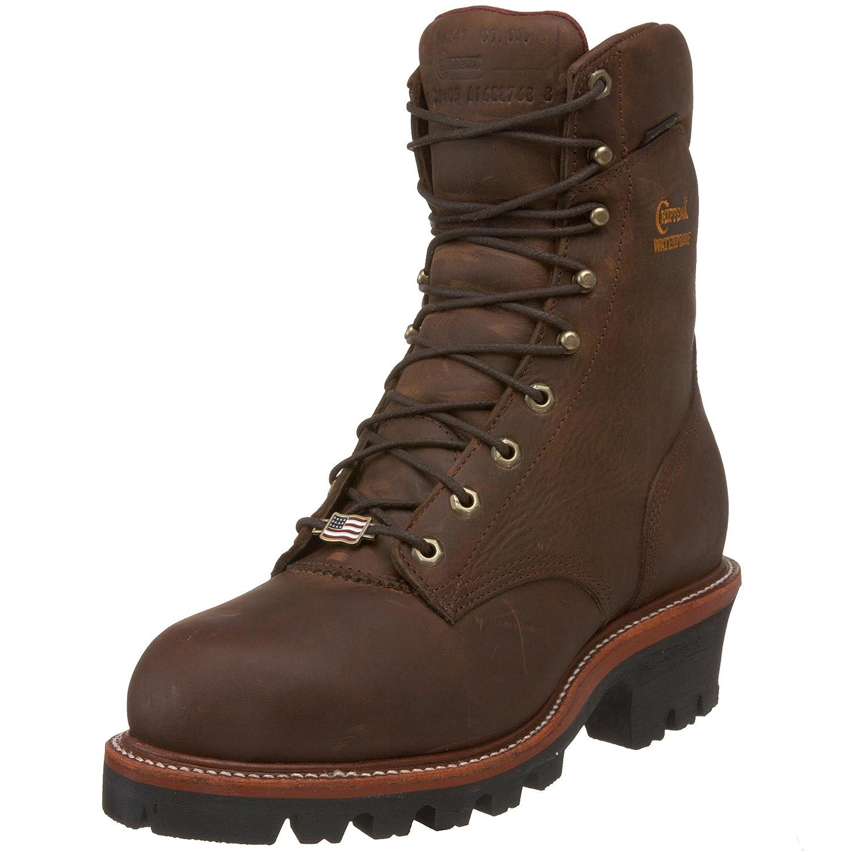 1c60e2365dd Chippewa Men's Bay Apache Super Logger Boot, Wide Width Bay Appache 9.5
