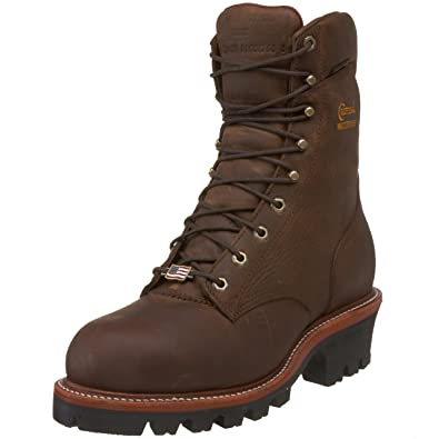 b5cd057eec8 Chippewa Men's Bay Apache Super Logger Boot, Wide Width Bay Appache 9.5