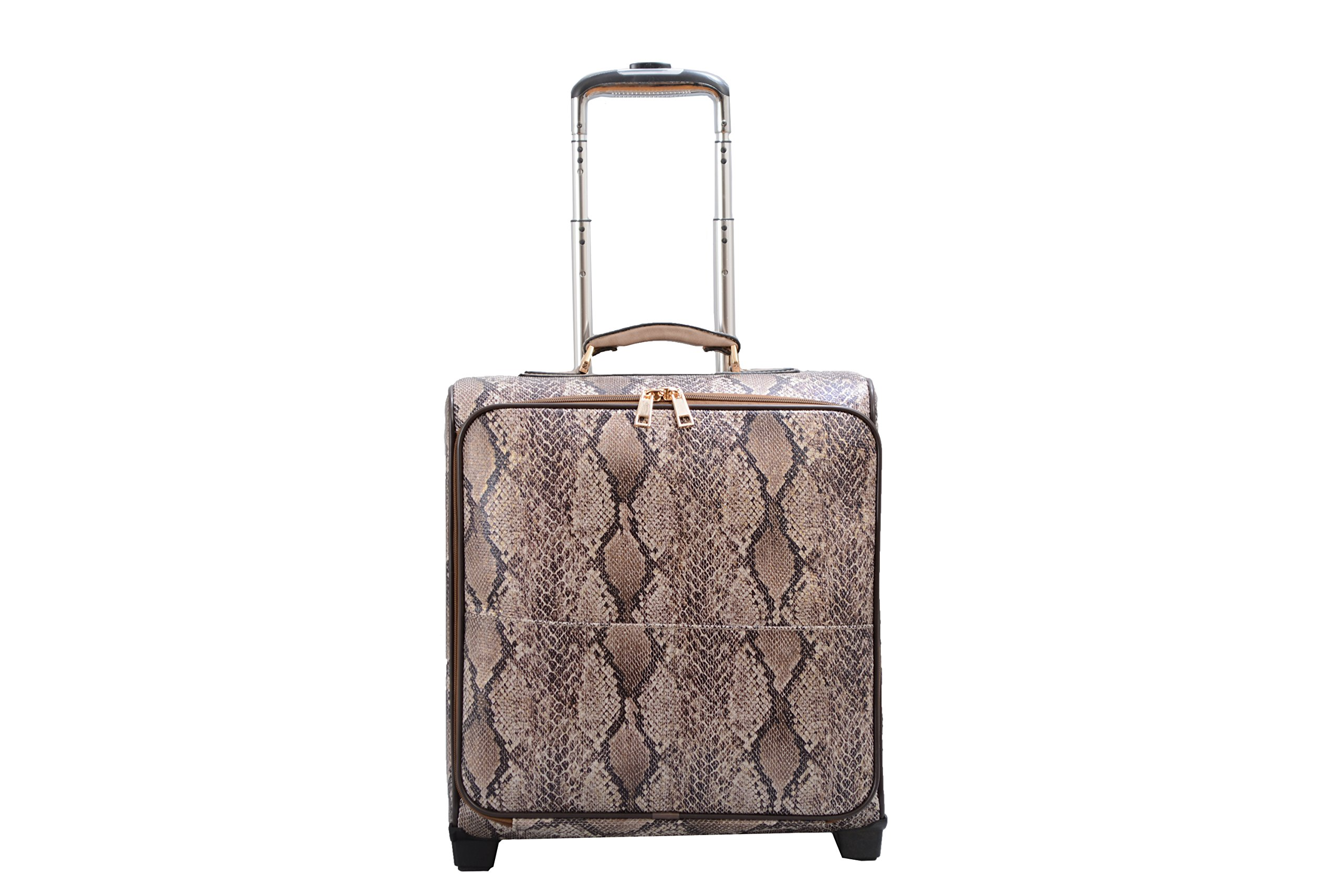 Mellow World Fashion Rogue Carry-on Rolling Suitcase, Khaki