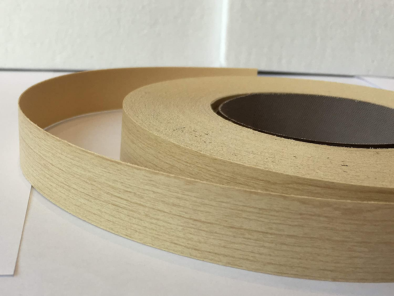Pre Glued Iron on Melamine Maple Edging Tape 22mm wide x 5 Metres...Free Postage