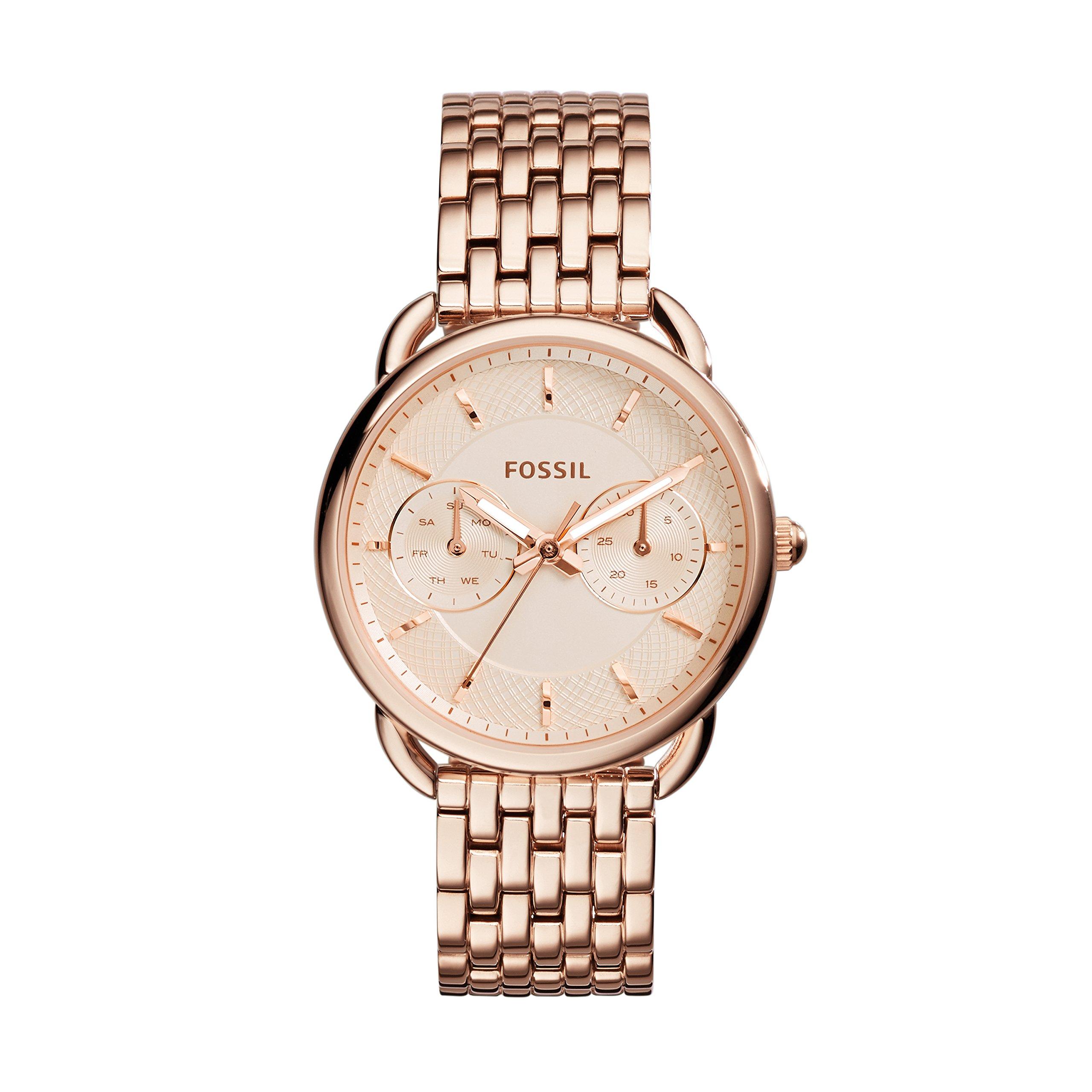 Fossil Women's Tailor Quartz Stainless Steel Dress Watch, Color: Rose Gold-Tone (Model: ES3713)