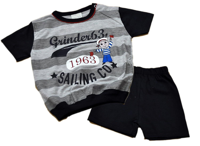 Pigiama 28-7031 per neonato Mondo Blu 50/% cotone; 50/% poliestere manica corta