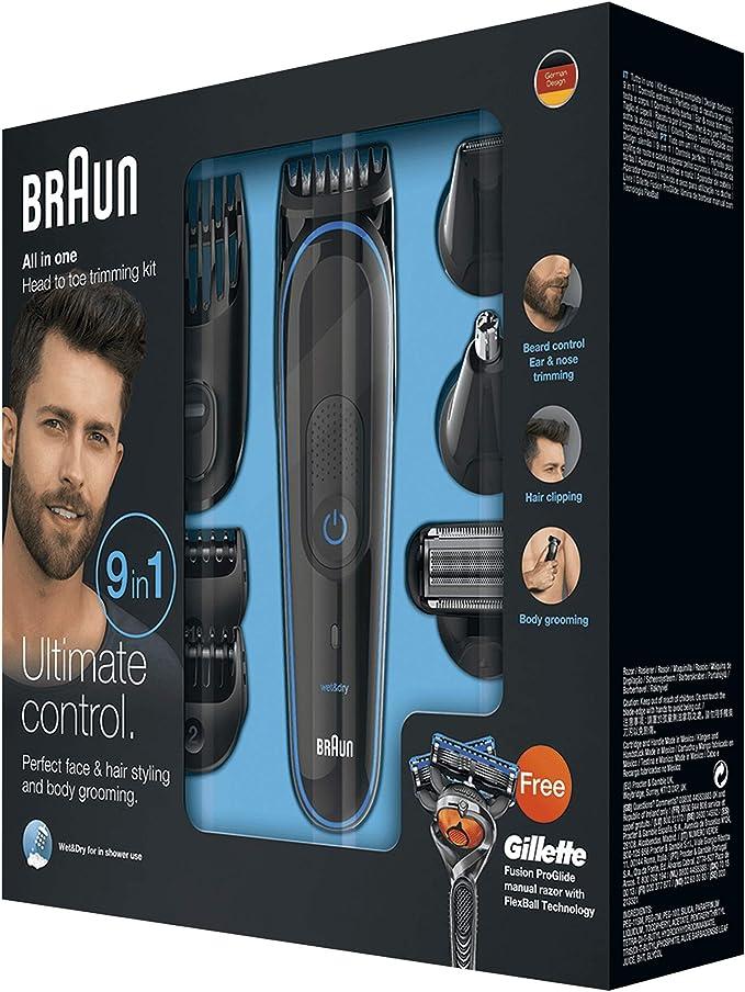 Braun MGK3080 - Set de afeitado multifunción 9 en 1, depiladora ...