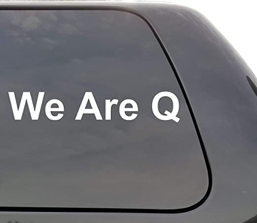 Q Decal Rabbit Decal Qanon Choose Your Color or Pattern and Size car stickers