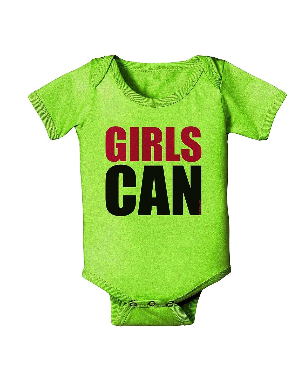 TooLoud Girls Can Baby Romper Bodysuit