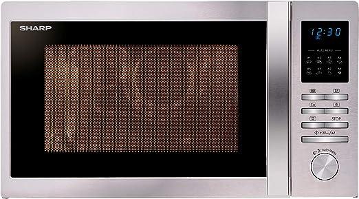Sharp R-322STWE - Microondas con placa giratoria, 25 L, 900 W, 8 ...