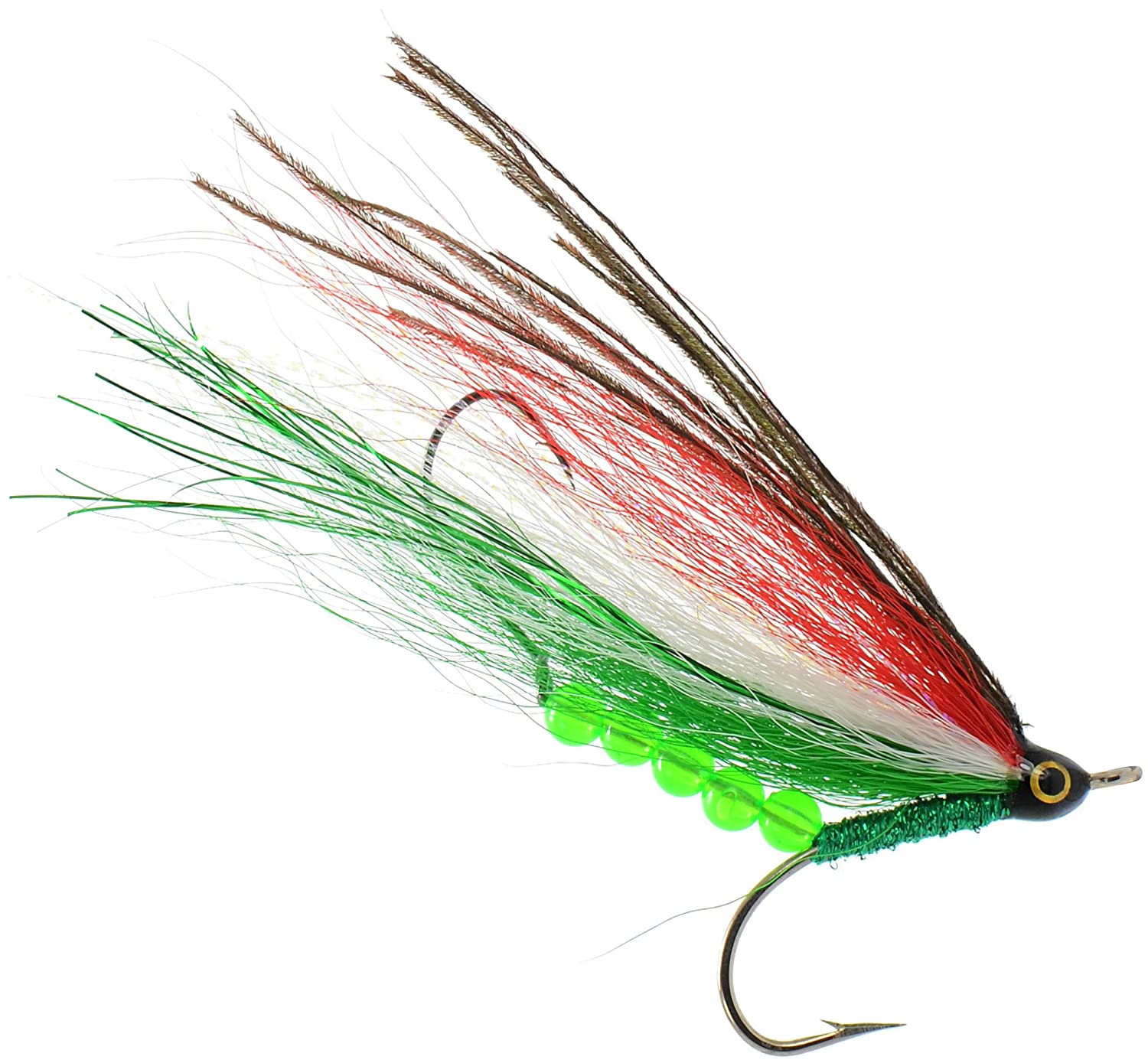 Pike Bass Perch Walleye Salmon Trout Dorado Tarpin Bonefish PEETZ Jack of Diamonds 4-Inch Pro Grade McFly Fly Fishing Lure Deceiver Streamer Bucktail Clouser Wet Freshwater Saltwater