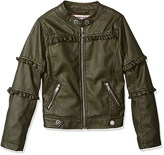Amazon.com  Urban Republic Girls Faux Leather Jacket Kids Biker Motorcycle  Moto Child Coat  Clothing 6eea70b7c2