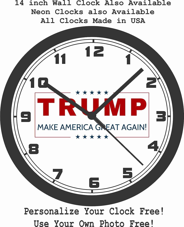 Amazon trump make america great again wall clock free usa amazon trump make america great again wall clock free usa ship sports outdoors amipublicfo Images