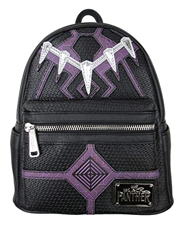 06af07401f Amazon.com | Loungefly: Black Panther Faux Leather Mini Backpack Standard |  Casual Daypacks