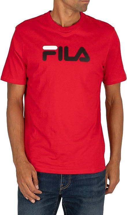 Fila de los Hombres Camiseta Eagle Logo, Rojo: Amazon.es: Ropa y accesorios